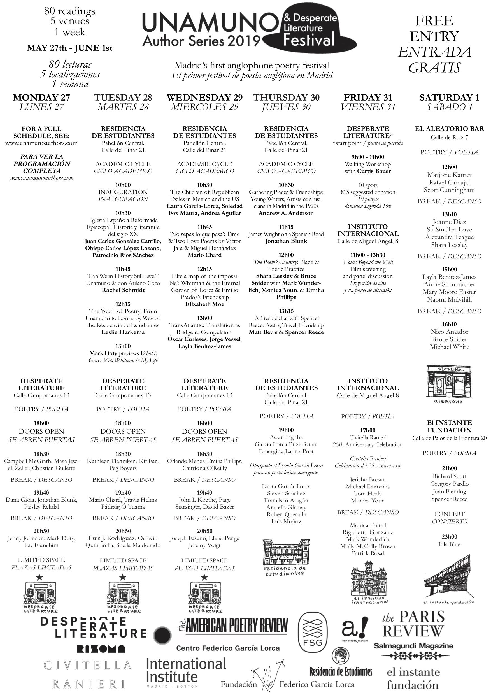 d978679948 Unamuno Author Festival 2019 – The Unamuno Author Series